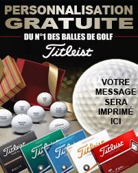Balles TITLEIST - Personnalisation et Marque Balle Offert