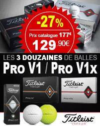 Balles Titleist Pro V1 en Déstockage à -27%