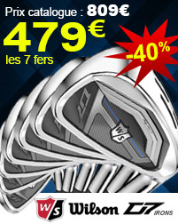 Wilson - Fers D7 en graphite en destockage à 549€