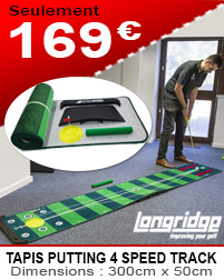 Longridge - Tapis de putting 4 Speed Track