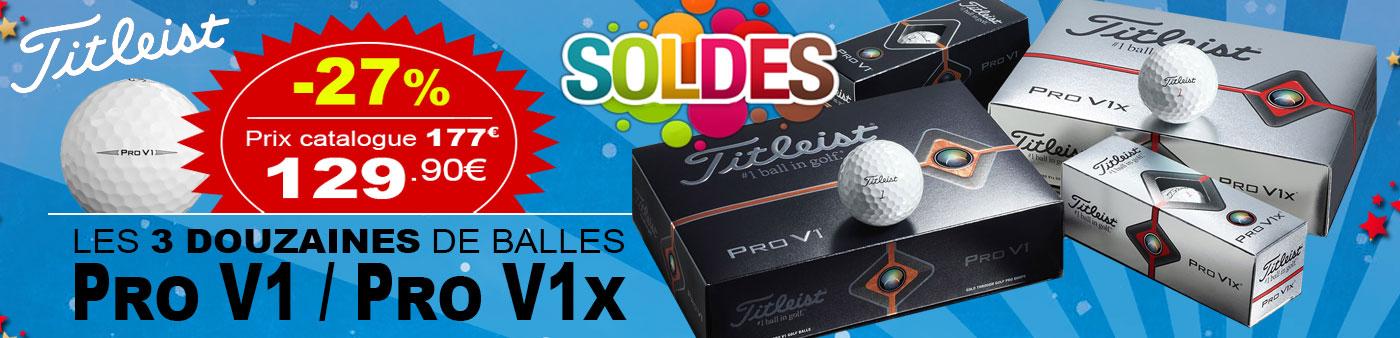 -27% sur les Balles de golf Pro V1 Titleist