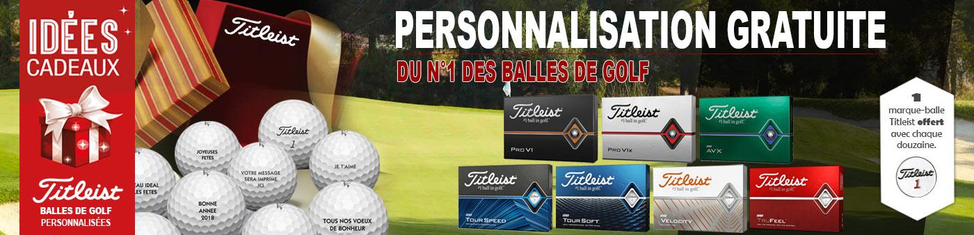 Balles TITLEIST Personnalisation et Marque Balle Offert