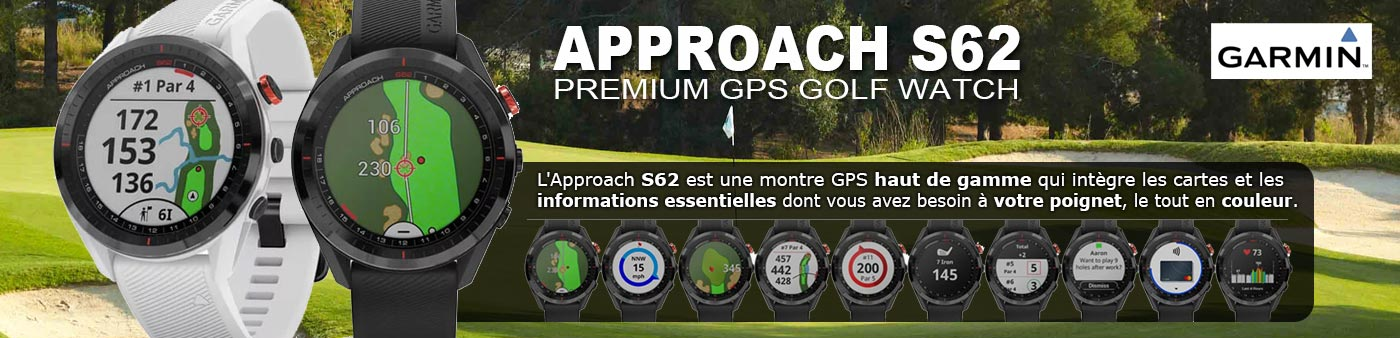 Nouvelle montre Garmin S62